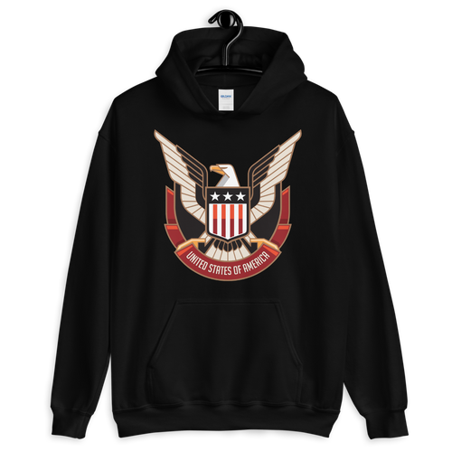 S Eagle USA Unisex Hoodie by Design Express