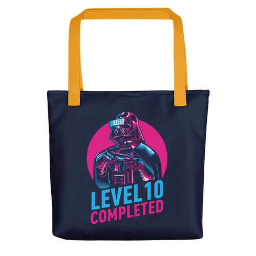 Yellow Darth Vader Level 10 Completed (Dark) Tote bag Totes by Design Express