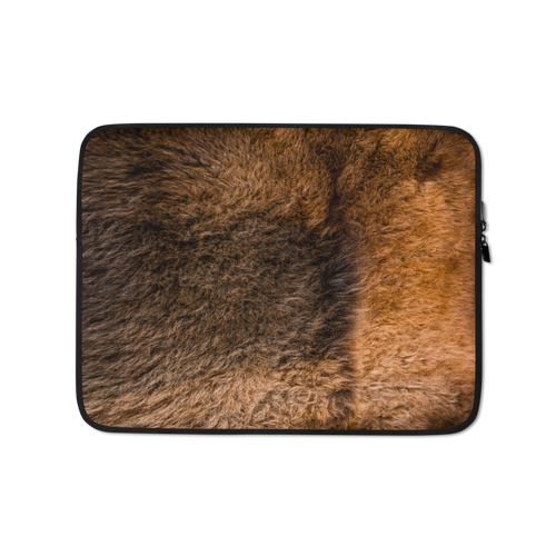 13 in Bison Fur Print Laptop Sleeve by Design Express