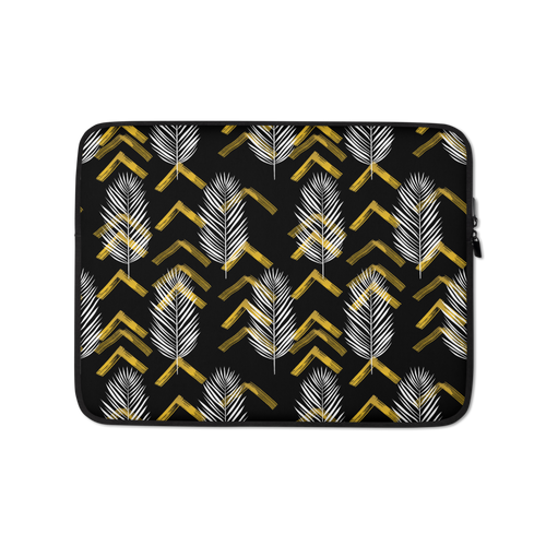 13 in Tropical Leaves Pattern Laptop Sleeve by Design Express