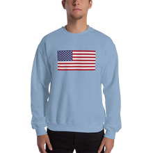 "Light Blue / S United States Flag ""Solo"" Sweatshirt by Design Express"