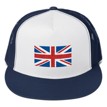 "Navy/ White/ Navy United Kingdom Flag ""Solo"" Trucker Cap by Design Express"