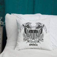 United States Of America Eagle Illustration Premium Pillow by Design Express