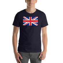 "Navy / S United Kingdom Flag ""Solo"" Short-Sleeve Unisex T-Shirt by Design Express"