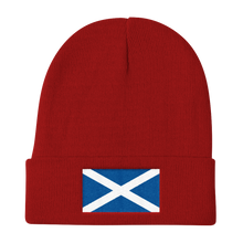 "Red Scotland Flag ""Solo"" Knit Beanie by Design Express"