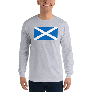 "Sport Grey / S Scotland Flag ""Solo"" Long Sleeve T-Shirt by Design Express"