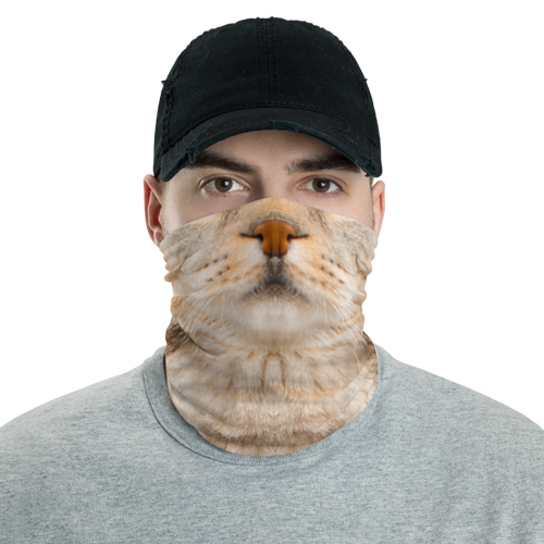 "Default Title Scottish Fold Cat ""Hazel"" Neck Gaiter Masks by Design Express"