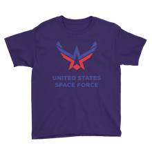 Purple / XS United States Space Force Youth Short Sleeve T-Shirt by Design Express