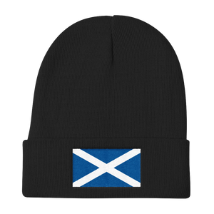 "Black Scotland Flag ""Solo"" Knit Beanie by Design Express"