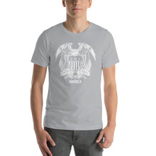 Silver / S United States Of America Eagle Illustration Reverse Short-Sleeve Unisex T-Shirt by Design Express
