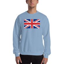 "Light Blue / S United Kingdom Flag ""Solo"" Sweatshirt by Design Express"