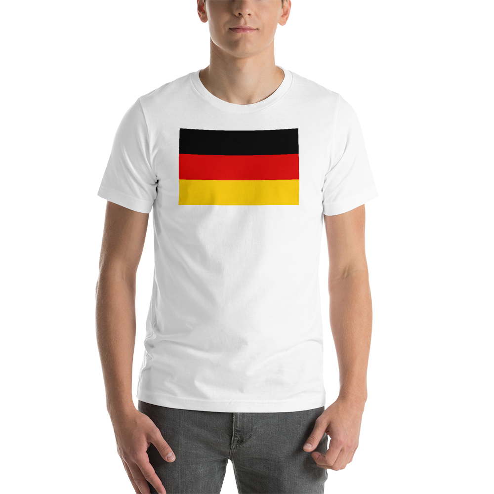 White / S Germany Flag Short-Sleeve Unisex T-Shirt by Design Express