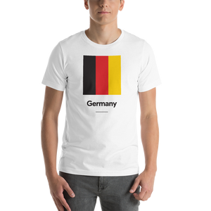 "White / S Germany ""Block"" Unisex T-Shirt by Design Express"
