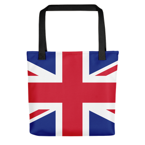 "Black United Kingdom Flag ""All Over"" Tote bag Totes by Design Express"