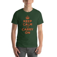 Forest / S Keep Calm and Carry On (Orange) Short-Sleeve Unisex T-Shirt by Design Express