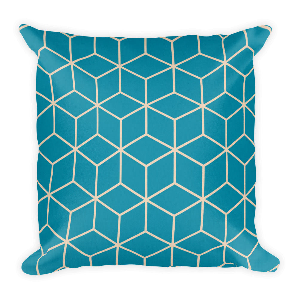 Default Title Diamonds Turquoise Pearl Square Premium Pillow by Design Express