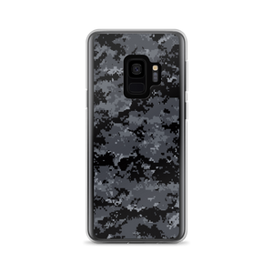 Samsung Galaxy S9 Dark Grey Digital Camouflage Print Samsung Case by Design Express