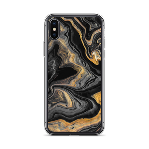 iPhone X/XS Black Marble iPhone Case by Design Express