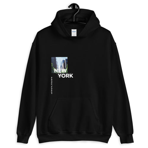 S New York Coordinates Unisex Black Hoodie by Design Express