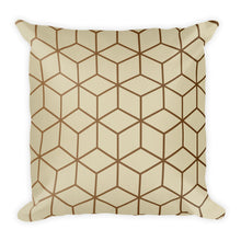 Diamonds Cream Gold Square Premium Pillow by Design Express