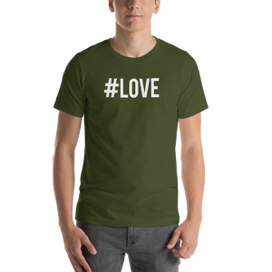 Olive / S Hashtag #LOVE Short-Sleeve Unisex T-Shirt by Design Express