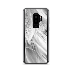 Samsung Galaxy S9+ White Feathers Samsung Case by Design Express