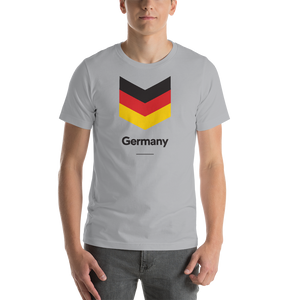 "Silver / S Germany ""Chevron"" Unisex T-Shirt by Design Express"