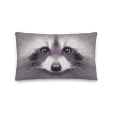 "Default Title Racoon ""All Over Animal"" Rectangular Premium Pillow by Design Express"