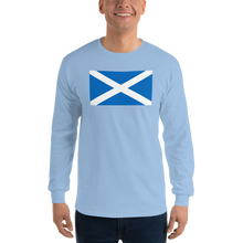 "Light Blue / S Scotland Flag ""Solo"" Long Sleeve T-Shirt by Design Express"