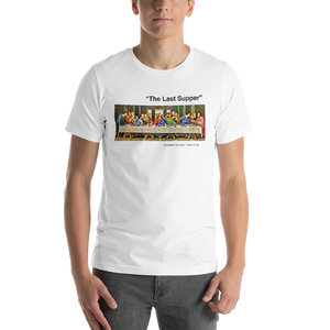 XS The Last Supper Unisex White T-Shirt by Design Express