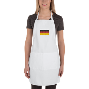 "Germany Flag ""Solo"" Embroidered Apron by Design Express"