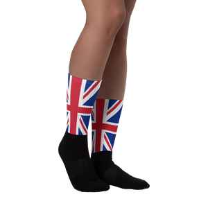 "M (6-8) United Kingdom Flag ""Solo"" Socks by Design Express"