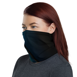 Blue Black Feather Neck Gaiter Masks by Design Express
