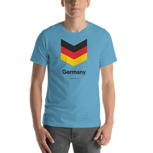 "Ocean Blue / S Germany ""Chevron"" Unisex T-Shirt by Design Express"