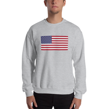 "Sport Grey / S United States Flag ""Solo"" Sweatshirt by Design Express"