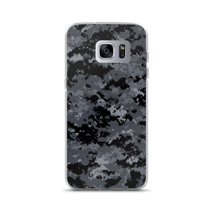 Samsung Galaxy S7 Edge Dark Grey Digital Camouflage Print Samsung Case by Design Express