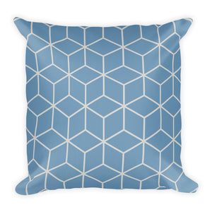 Diamonds Colonial Blue Square Premium Pillow by Design Express