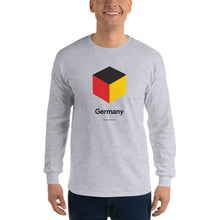 "Sport Grey / S Germany ""Cubist"" Long Sleeve T-Shirt by Design Express"