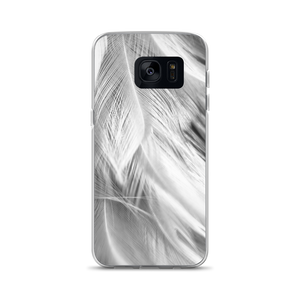 Samsung Galaxy S7 White Feathers Samsung Case by Design Express