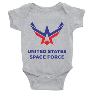 Heather / 6M United States Space Force Infant Bodysuit by Design Express
