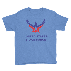 Heather Royal / XS United States Space Force Youth Short Sleeve T-Shirt by Design Express