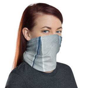 White Feathers Texture Neck Gaiter Masks by Design Express