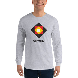 "Sport Grey / S Germany ""Diamond"" Long Sleeve T-Shirt by Design Express"