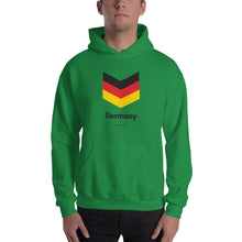 "Irish Green / S Germany ""Chevron"" Hooded Sweatshirt by Design Express"