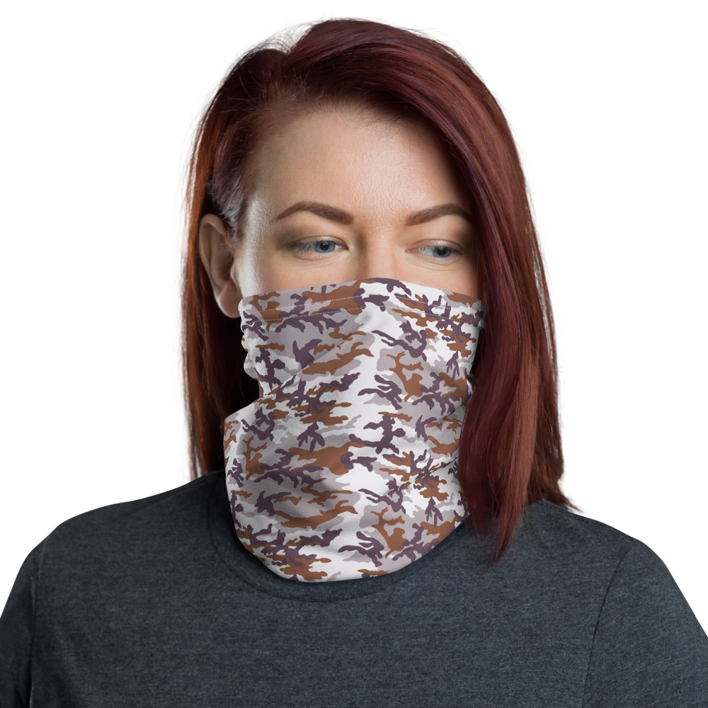 Default Title White Fall Bark Camo Neck Gaiter Masks by Design Express