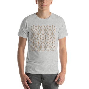 Athletic Heather / S Diamonds Patterns Short-Sleeve Unisex T-Shirt by Design Express