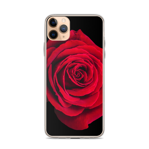iPhone 11 Pro Max Charming Red Rose iPhone Case by Design Express