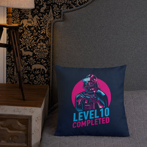 Darth Vader Level 10 Completed (Dark) Premium Pillow by Design Express
