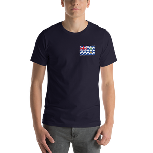 Navy / S British Indian Ocean Territory Unisex T-Shirt by Design Express