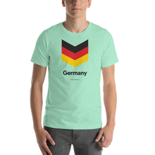 "Heather Mint / S Germany ""Chevron"" Unisex T-Shirt by Design Express"
